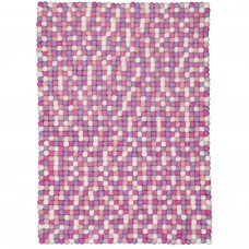 Rosa Pink Felt Rectangular Rug