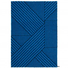 Weave Blue Felt Rectangular Rug