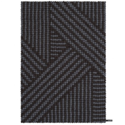 Weave Grey Felt Rectangular Rug