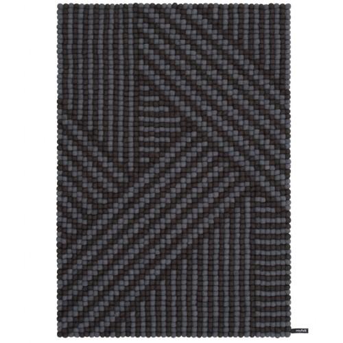 Weave Grey Felt Rectangular Rug