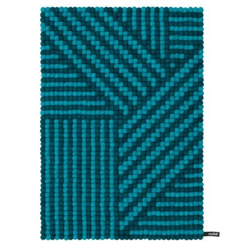 Weave Turquoise Felt Rectangular Rug