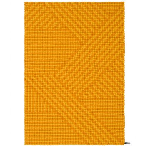 Weave Mustard Felt Rectangular Rug