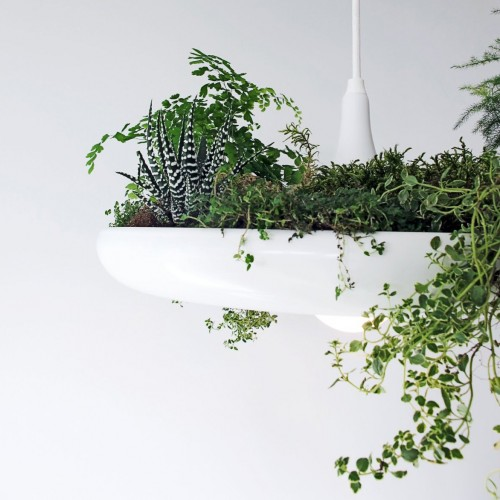 Babylon Light With Faux Plant Insert