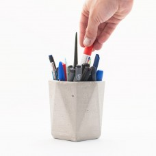 Grey Concrete Pen Holder Vase