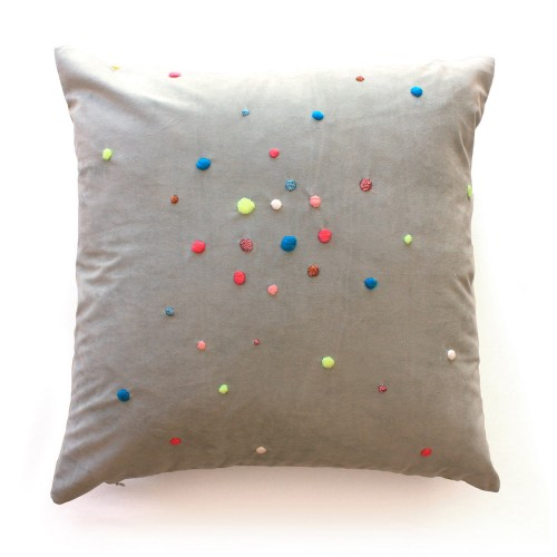 Poppy Embroidered Cushion