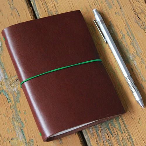 Grand Voyageur Leather Journal - Dark Brown