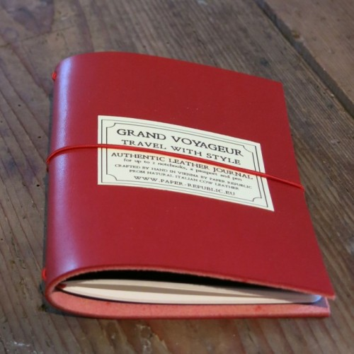 Grand Voyageur Leather Journal - Red