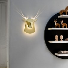 Deer Head Wall Light - Cardboard