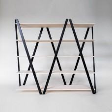 Zig Zag Wooden shelving Unit