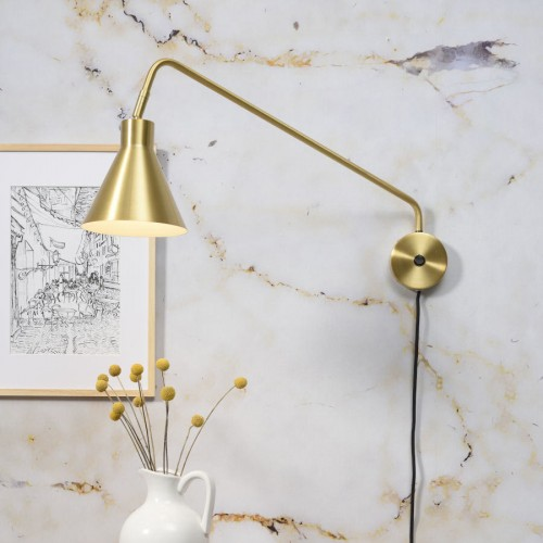 Lyon Wall Arm Light- Gold