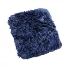 Blue Sheepskin Cushion
