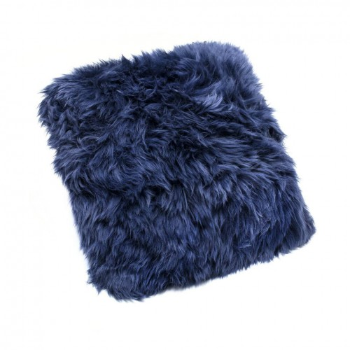 Blue Sheepskin Cushion