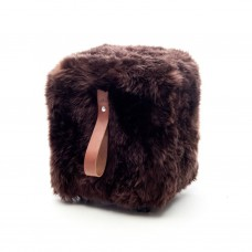 Brown Cube Pouffe