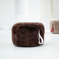 Brown Sheepskin Pouffe