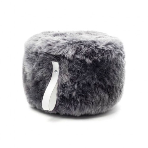 Monochrome Sheepskin Pouffe