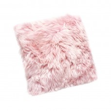 Pink Sheepskin Cushion