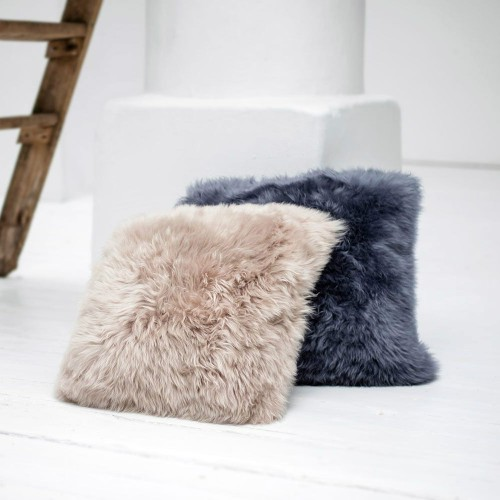 Brown Sheepskin Cushion