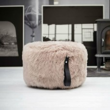 Light Brown Sheepskin Pouffe