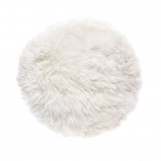 White Sheepskin Round Rug