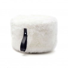 White Sheepskin Pouffe