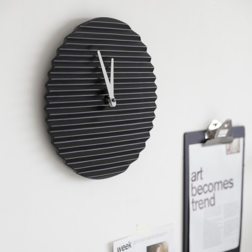 Wave Wall Clock - Coloured Hands