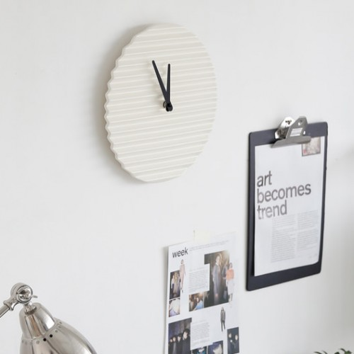 Wave Wall Clock - Coloured Face