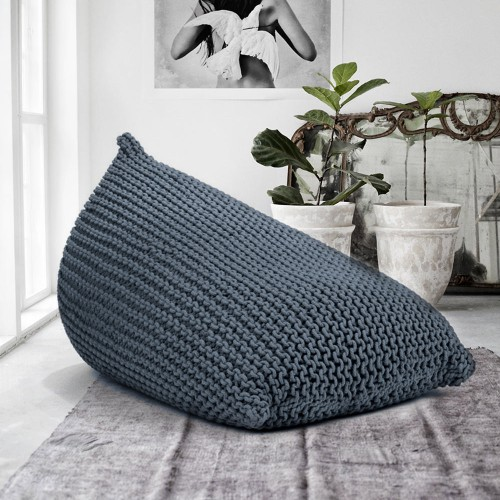 Large Knitted Beanbag
