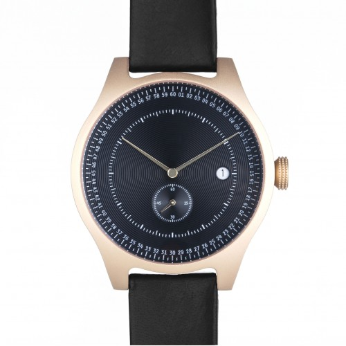Black and Gold Aluminium Watch - SQ31