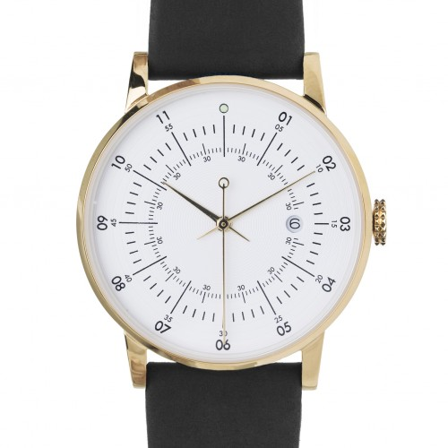 Black and Gold Plano Watch - SQ38