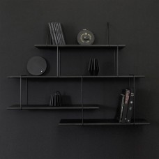 Link shelving - True Black