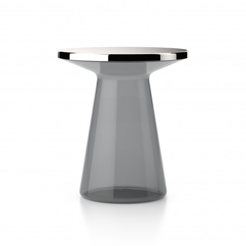 Figure Glass Side Table Grey