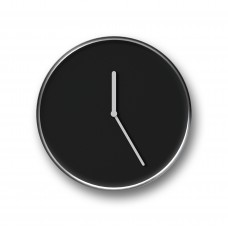 Thin Wall Clock Chrome