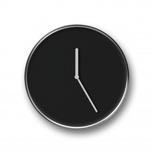 Thin Wall Clock Chrome