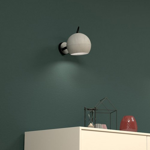 Superfly Concrete Ball Wall Light