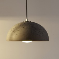 Globus 280 Concrete Dome Pendant Light