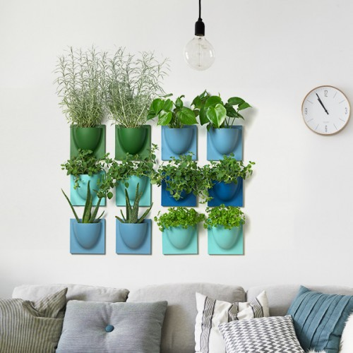 Multi Colour VertiPlants Mini Wall Pots - 4 Pack