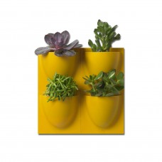Yellow VertiPlants Mini Wall Pots - 4 Pack
