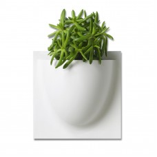 White VertiPlants Mini Wall Pots- 4 Pack