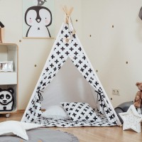 Monochrome Cross Teepee Set
