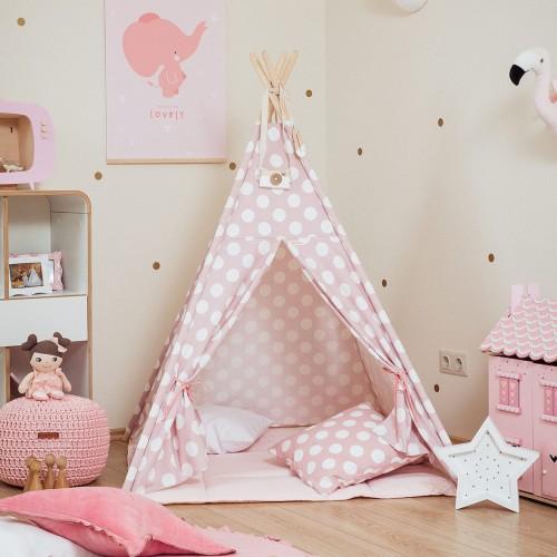 Pink Spots Teepee Set