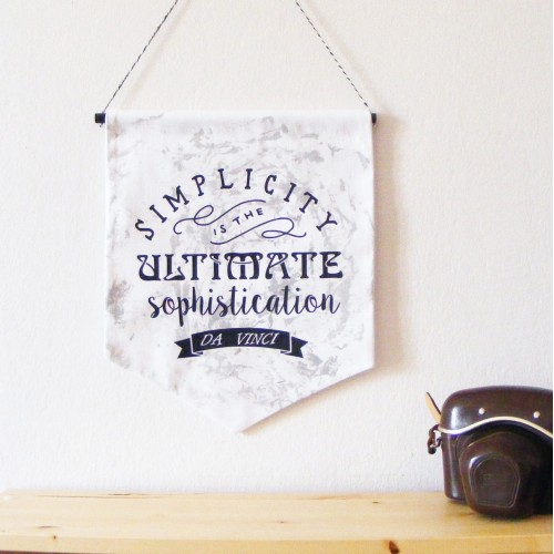 Simplicity Wall Hanging Banner