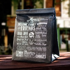 Black Menu Lunch Bag