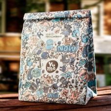 Blue Monster Print Lunch Bag
