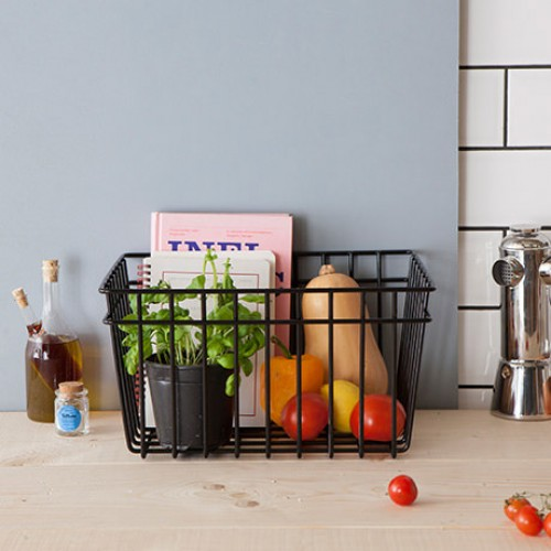 Black Wire Storage Basket- 3 pack