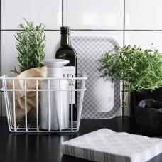 White Wire Storage Basket- 3 pack