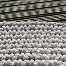 Crocheted Beige Rug