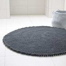Crocheted Graphite Rug